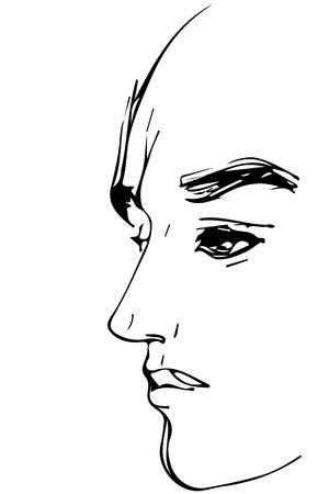 Human head sketch.