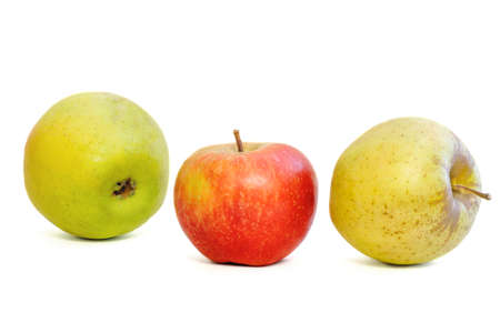 image of kiwi and apples on a white background