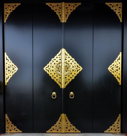 door way: black door way, japan Stock Photo