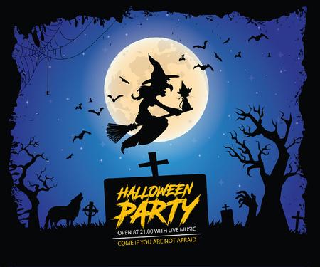 Halloween Poster Vector illustration. Illustration