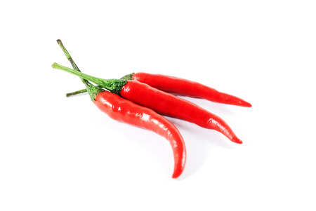 red chili pepper: red chili pepper isolated on a white background Stock Photo