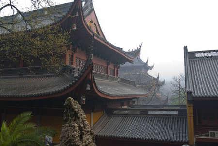 awakened: China Temple Stock Photo