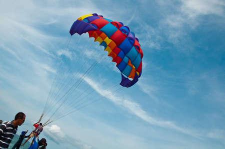 parachuting: Parachuting sport in Thailand Pattaya  Editorial