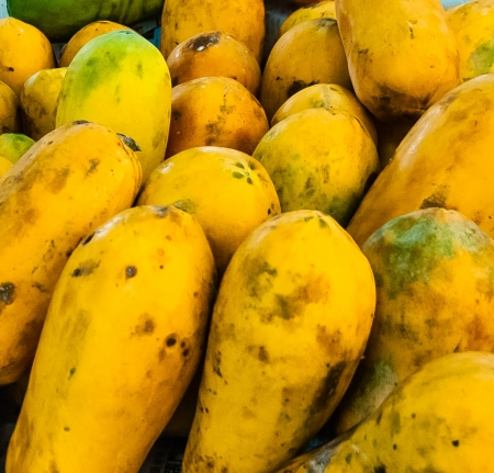 papaw: The papaya  from Carib via Spanish , papaw, or pawpaw is the fruit of the plant Carica papaya, the sole species in the genus Carica of the plant family Caricaceae