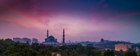 terengganu: Pink sunrise Mosque