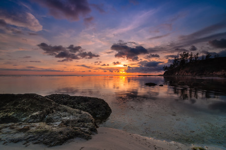 Tips of borneo sunset photo