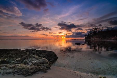 Tips of borneo sunset photo