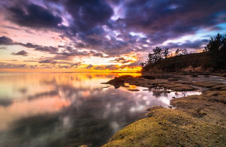 Sunset tips of borneo photo