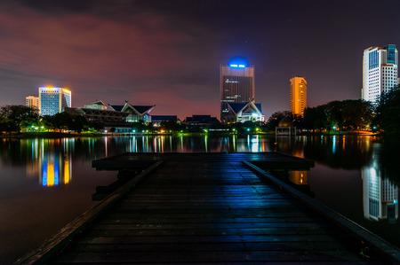 alam: Shah Alam at night