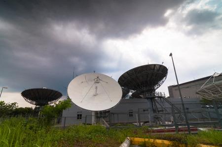 airwaves: Earth satellite station Stock Photo