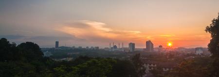 alam: Sunrise at shah alam Stock Photo