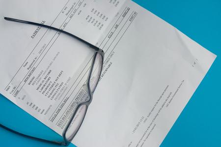 Hospital bills and glasses