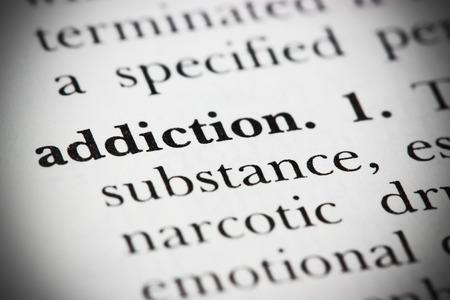 drogadiccion: Primer plano de una palabra del diccionario Foto de archivo