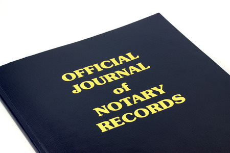 bank records: Official Journal of Notary Records Stock Photo