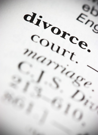 Dictionary Word Divorce Stock Photo