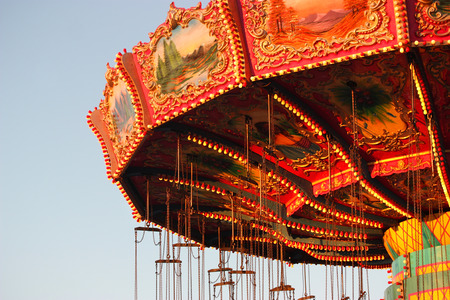 merry go round: Carnival ride at amusement park