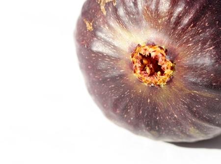 purgative: Close up of fresh ripe fig