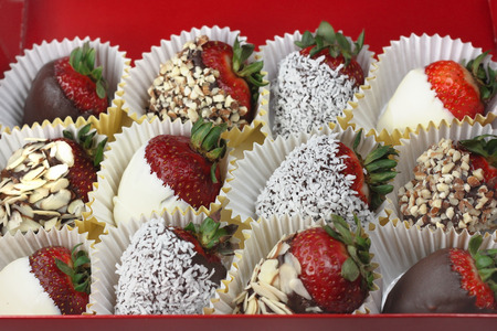 dipped: Box of chocolate covered strawberries