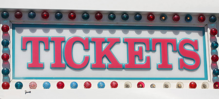 Tickets sign at the amusement park