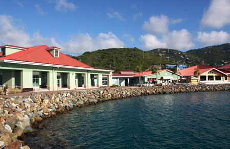 thomas stone: Tourist shops on caribbean island.
