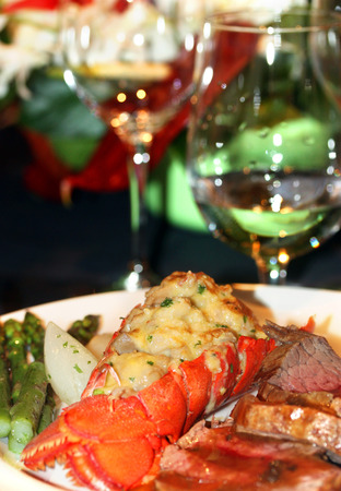 lobster dinner: Gourmet lobster dinner at the fine restaurant