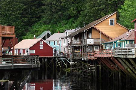 brothel: Famous Creek Street in Ketchikan, Alaska.
