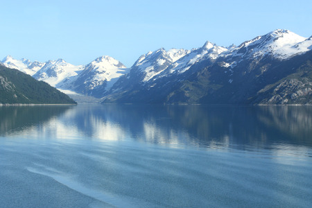 Beautiful peaceful water in Glacier Bay Alaska