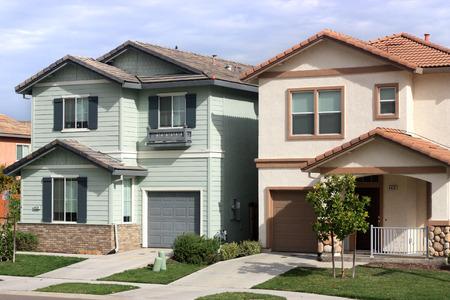 Houses in suburban neighborhood 新聞圖片