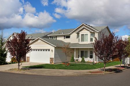 suburban neighborhood: Houses in suburban neighborhood Editorial