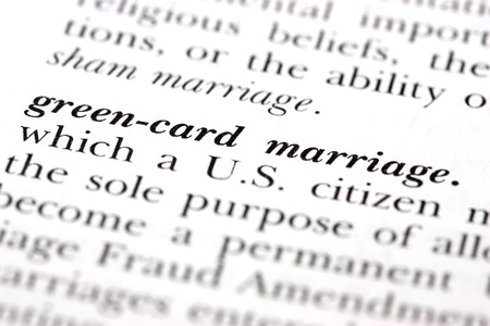 swindling: Dictionary word Green-card marriage