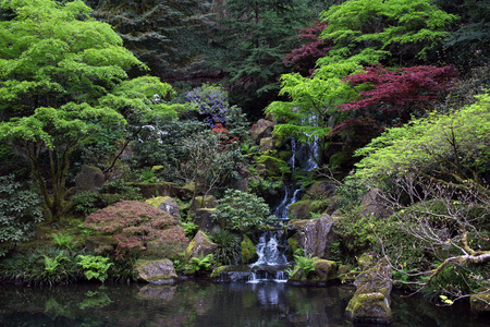 oregon cascades: Japanese Garden in Portland, Oregon
