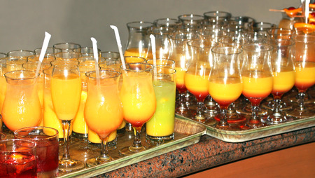 Colorful Drinks at the Party