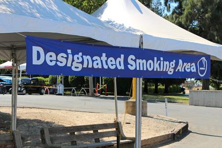 designated: Designated smoking area