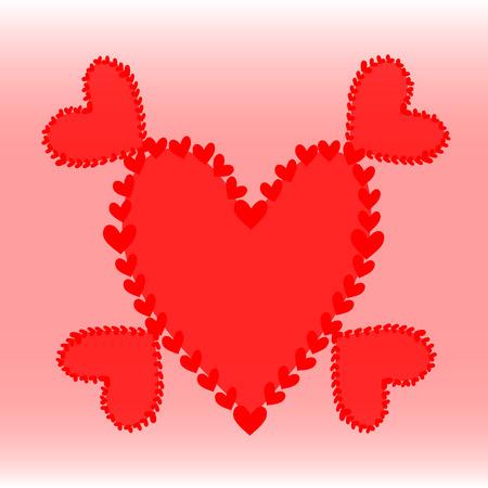 foul: Red foul heart Illustration
