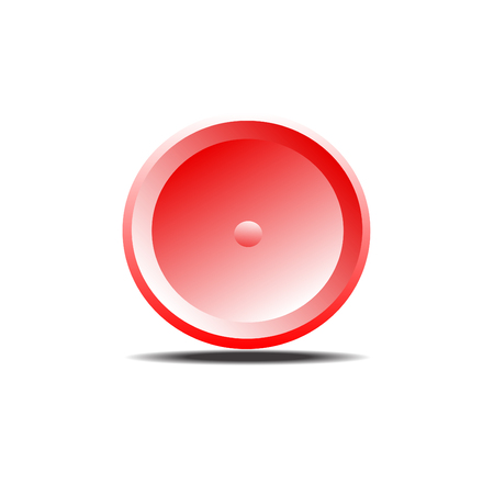 red button: Red button Illustration