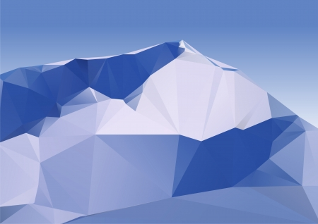 Geometric Mountains Covered With Snow  Vector Illustration  Vector can be scaled to any size without loss of quality  All objects can be easily edited  Stock Vector - 23498300