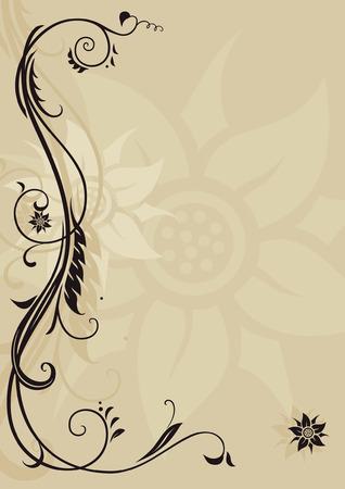 historical romance: Vintage style letterhead with ornament Illustration