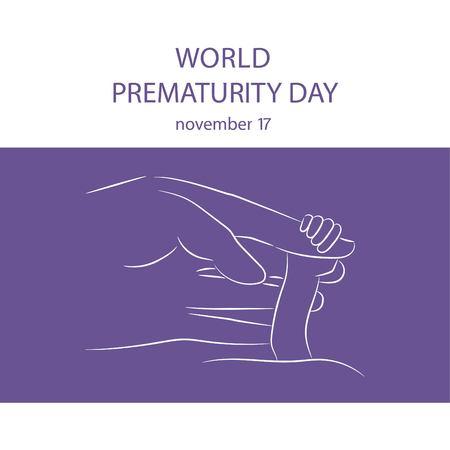 Vector illustration of World Prematurity Day. Vector illustration.