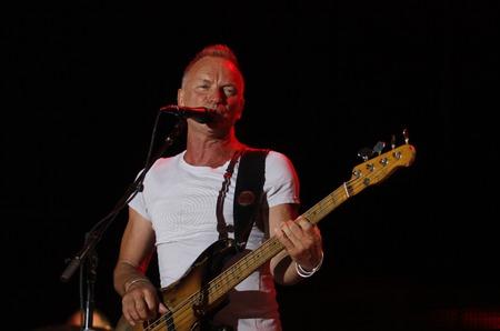 performs: Ibiza, Spagna - 2 luglio 2012 - musicista inglese, cantante e compositore estate Mathew Gordon alias Sting esegue dal vivo durante il festival di musica Ibiza123