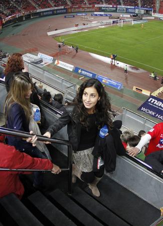 nadal: Palma de Mallorca, Spain - January 29, 2011 - Rafa Nadal girlfriend Francisca xisca Perello arrives at Majorca?s soccer stadium to watch a match Editorial