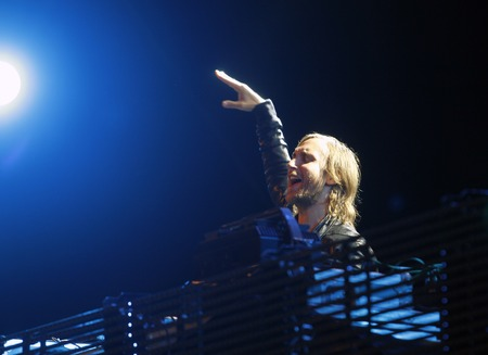 Ibiza, Spain - July 2, 2012 - French dj and music producer David Guetta performing live at the Ibiza123 music festival Éditoriale