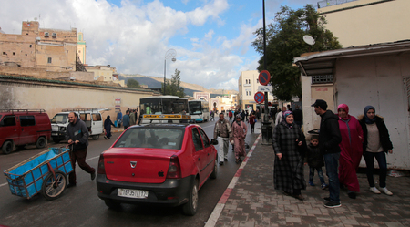 urbanism: Fez, Morocco - December 15, 2016 - Daily life at the Medieval and  Moroccan city of Fez