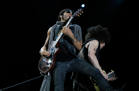 craig: Ibiza, Spain - July 3, 2012 - US musician, singer and composer Lenny kravitz performs live next to guitarist Craig Ross at the 123 Ibiza music festival in the Spanish island of Ibiza.