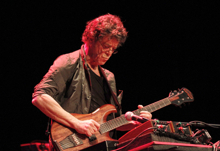 Palma de Mallorca, Spain - April 30th, 2010 - American singer ruitarist and composer Lou Reed performs live in pama´s theatre Editorial