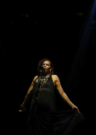 Barcelona  Spain - June 14, 2014 - Swedish singer Neneh Cherry performs live at Sonar advanced music and arts in Barcelona