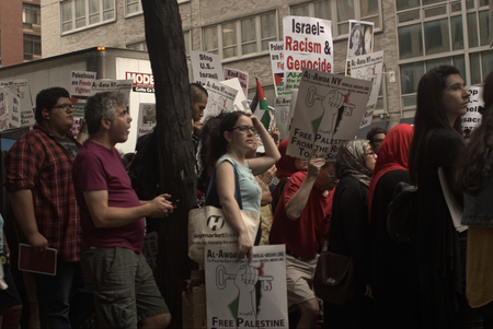 outrage: Protest for Jewish outrage at Zionist attacks in Palestine Editorial