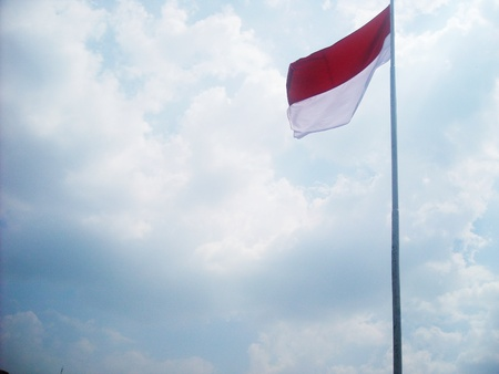the indonesian flag: indonesian flag
