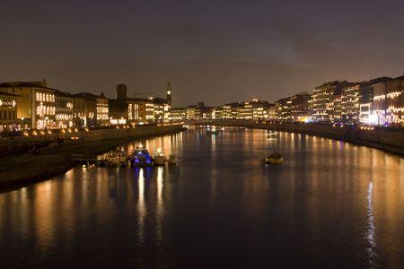 recurrence: River Arno during the annual celebration of Luminara di San Ranieri