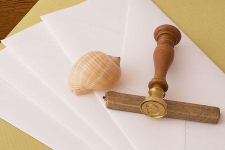 Sealing wax and envelopes photo