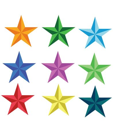 Colorful star icons. vector illustration